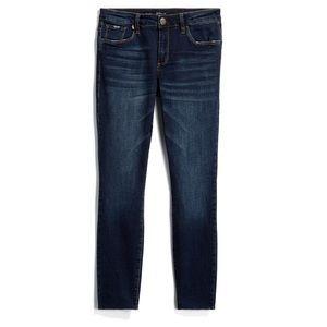STS blue Emma crop scissor hem jeans